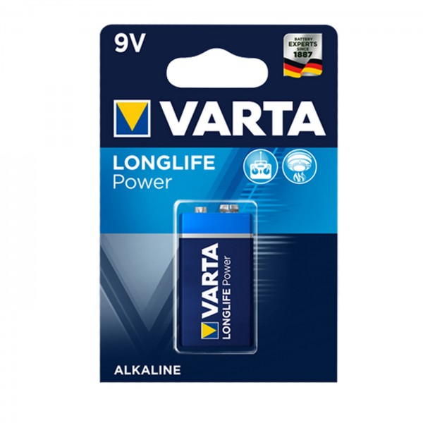 Varta Alkaline 9V Block (6LR61) LONGLIFE Power