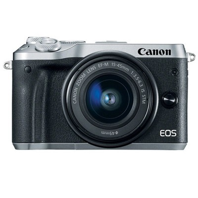 Canon EOS M6 Set + EF-M 15-45mm IS STM silber