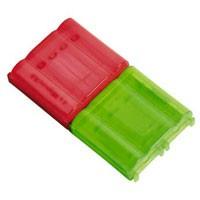 Hama Doppel-Akkubox rot/grün