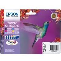 Epson Tinte Claria Multipack 6-farbig T0807