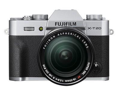 Fuji X-T20 Set + XF 18-55mm R LM OIS, silber