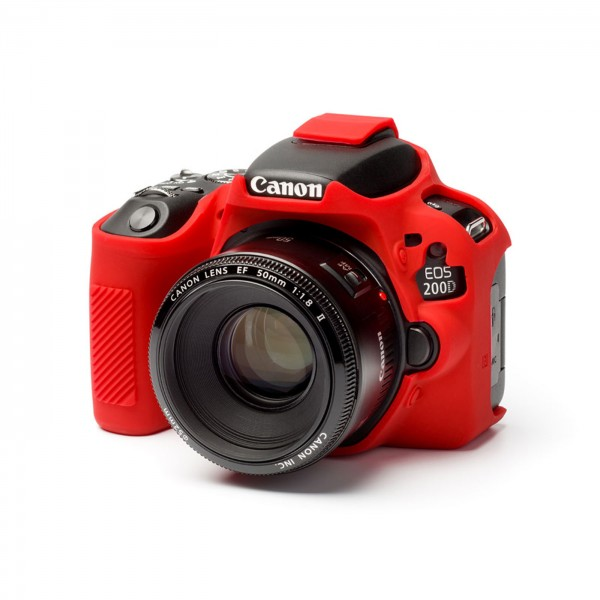 easyCover case für Canon 200D/250D, rot