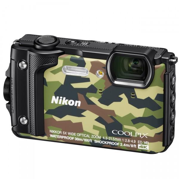 Nikon Coolpix W300, camouflage mit Rucksack