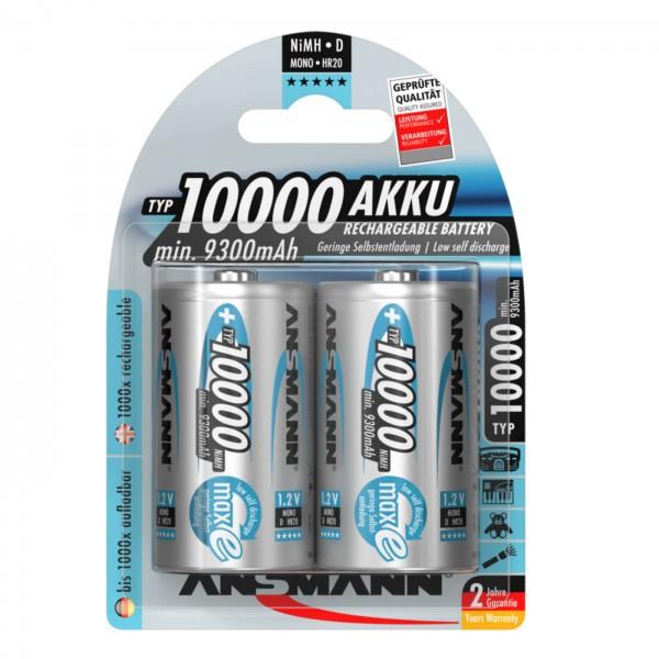 Ansmann maxE Akku Mono D Typ 10.000 2 St.
